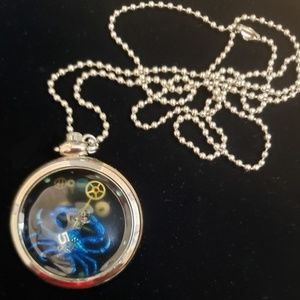 Jewelry - Steampunk Crab Silver Tone Pocket Watch Necklace